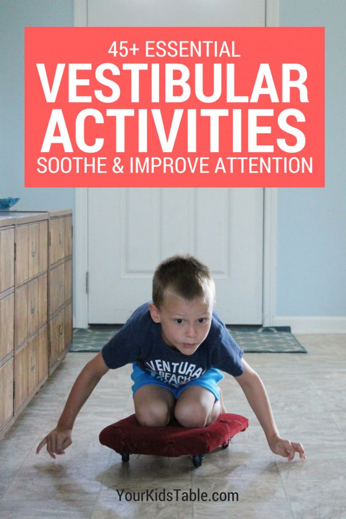 45 Essential Vestibular Activities and Input Ideas