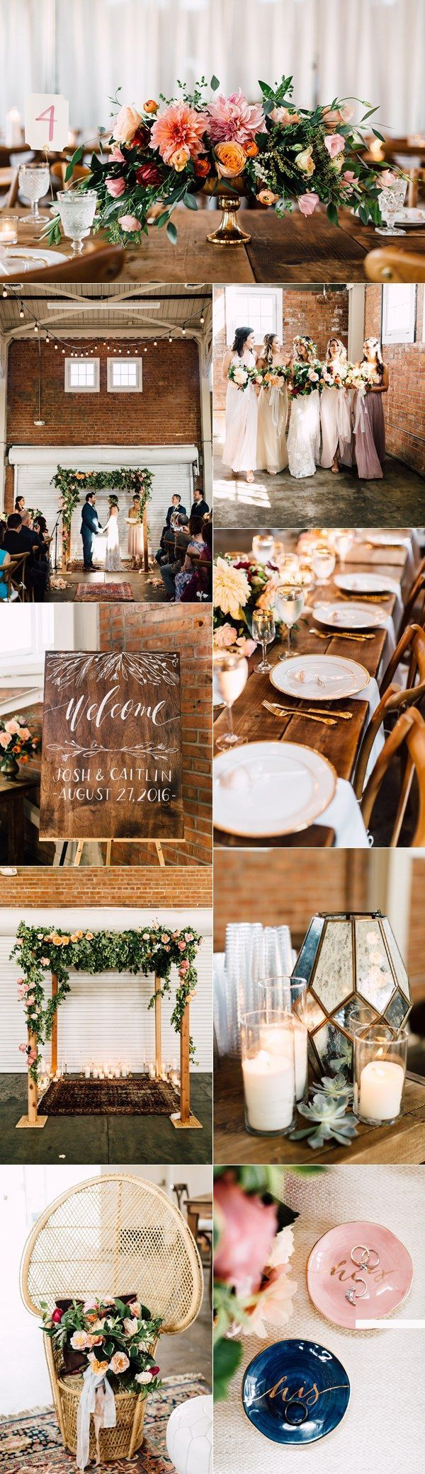 Rustic industrial wedding theme ideas / http://www.deerpearlflowers.com/industrial-wedding-theme-ideas/