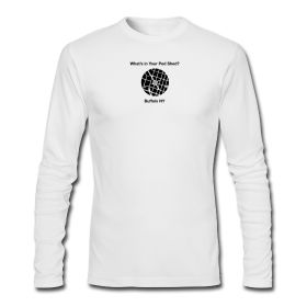 """Buffalo NY Ped Shed"" by Urban Fabrics  Men's American Apparel Tee Long Sleeve 