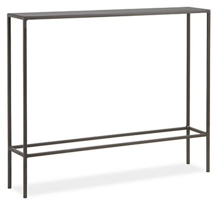 Slim Modern Console Tables in Natural Steel - Modern Console Tables - Modern Living Room Furniture - Room & Board