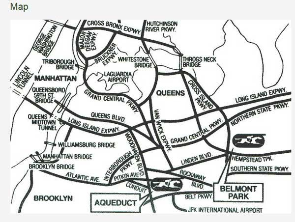 Map-of-how-to-get-to-Belmont-Stakes-&-location