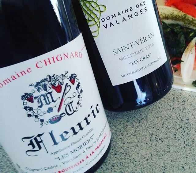 Ont se gâte en fruits frais et en jeunesses! #beaujolais #fleurie #gamay en suite #saintveran #chardonnay #maconnais acc...