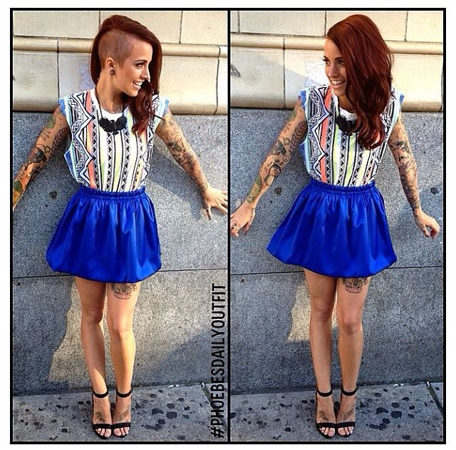 tattooed babes dope hair phoebe dykstra fashion icons colorful hair