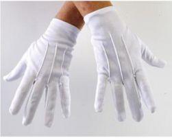 Weisse Handschuhe für dein perfektes Karnevalskostüm
