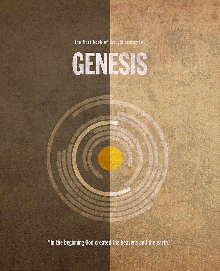 Genesis Books Of The Bible Series Old Testament Minimal Poster Art Number 1