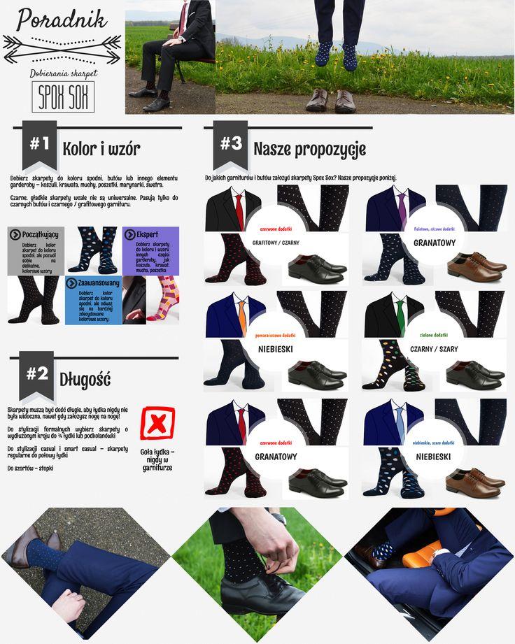 Skarpetki biznesowe garniturowe i wizytowe - skarpety kolorowe gładkie i we wzory Spox Sox