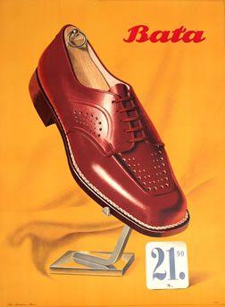 Peter Birkhauser, Bata 21.90, 1948 #batashoes #120yearsadvertising