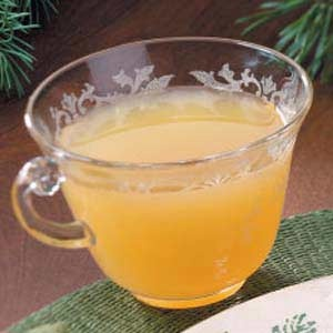 ~~~ Citrus Wassail ~~~  8 cups unsweetened apple juice  2 cups unsweetened pineapple juice  2 cups orange juice  1/2 cup lemon juice  1/4 cup sugar  1 teaspoon ground cinnamon  1/2 teaspoon ground cloves  Directions  In a Dutch oven or large pot, combine all of the ingredients. Bring to a boil. Reduce heat; simmer, uncovered, for 10-15 minutes. Serve warm.