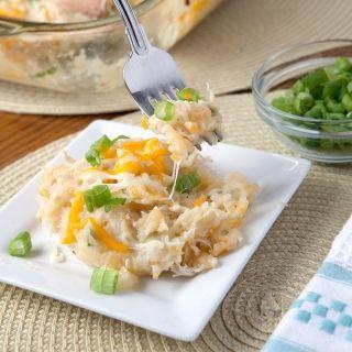 Сырный Цыпленок и картофель запеканка