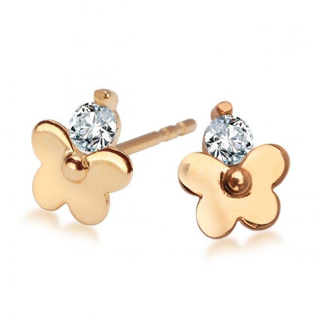 Złote Kolczyki z cyrkonią, 215,10 PLN, www.Bejewel.me/zlote-kolczyki-z-cyrkonia-663 #jewellery #gold #bejewelme #bjwlme #shoponline #accesories #pretty #style