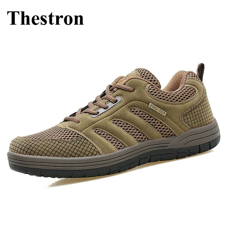 Trekking Shoes Brand Brwon/Gray Fishing Shoes Men Spring/Summer Mens Walking Shoes Outdoor Anti-Slippery Man Trainers Mountain #Affiliate