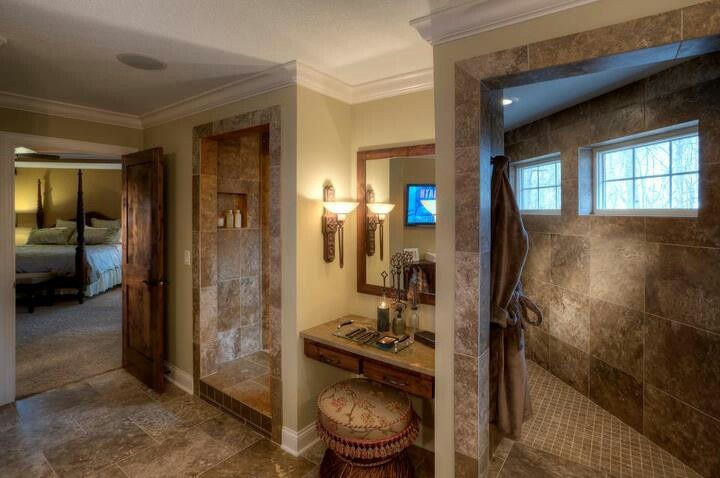 Walk through shower the place i 39 ll call home pinterest for House plans with walk through shower