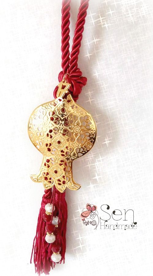 Luck-Charms : Good luck charm goldplated pomegranate
