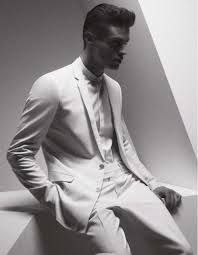 dior homme white suit - Google Search