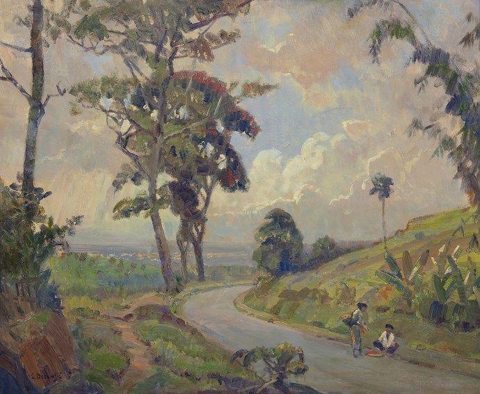 Ernest Dezentjé (Jatinegara (Nederlands-Indië) 1884-1972 Jakarta (Indonesië)) Namiddag bij Nagrèk.