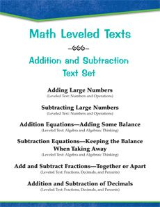 Engage and motivate students with this high-interest, #leveledtext set on addition and subtraction. #math Reading Level: 1.7 - 6.8