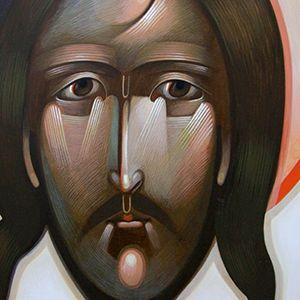 Christ icon, by Greta Lasko