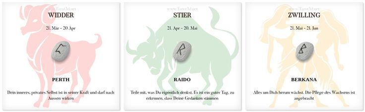 Runen Tageshoroskop 5.11.2017 https://www.tarot3d.net/tagesrune/de/horoscope  #Horoskop #Sternzeichen #Runen #widder #stier #zwilling