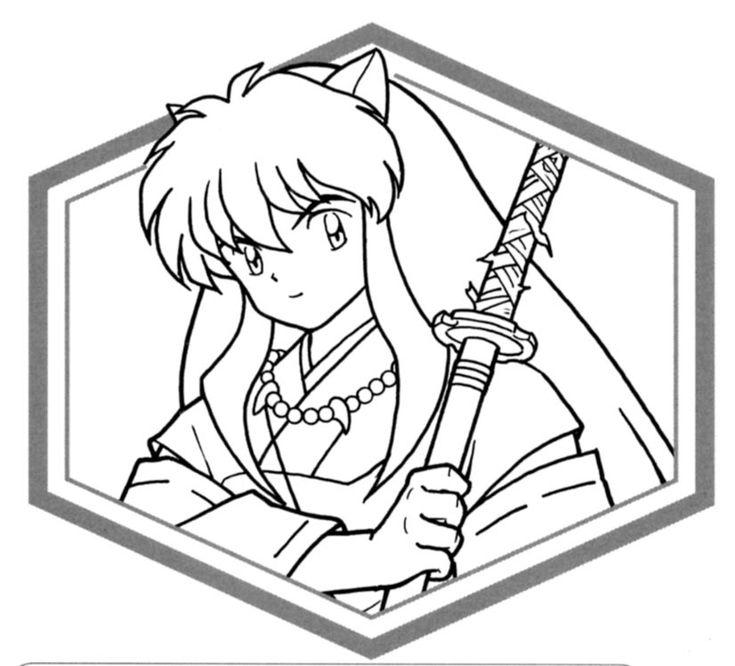 anime inuyasha color sheets | Inuyasha Coloring Pages