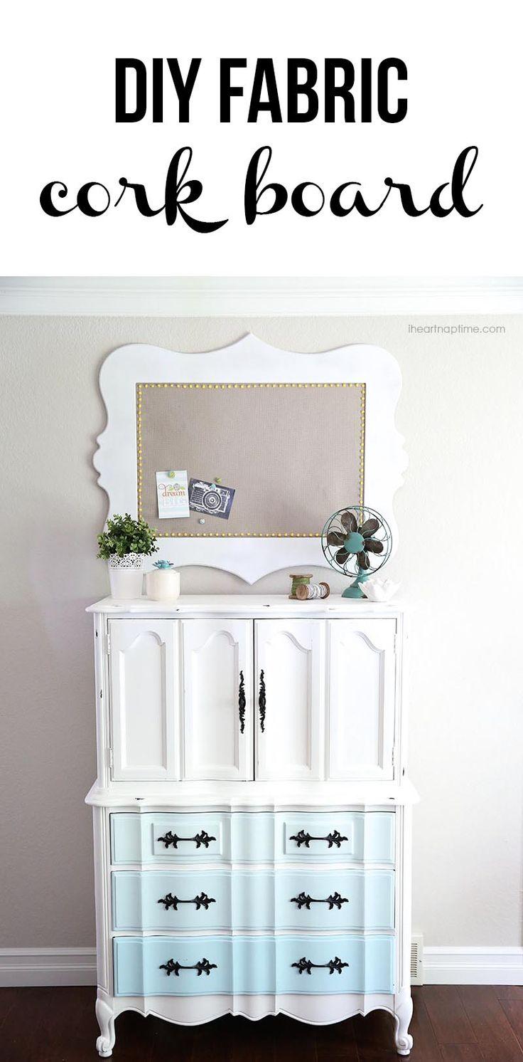 Diy fabric cork board diy pinterest para el hogar for Ideas deco hogar