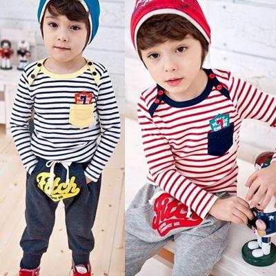 $19.99 (Buy here: https://alitems.com/g/1e8d114494ebda23ff8b16525dc3e8/?i=5&ulp=https%3A%2F%2Fwww.aliexpress.com%2Fitem%2FTrend-2015-child-set-boys-girls-clothing-baby-long-sleeve-T-shirt-trousers-set-stripe-set%2F2015269378.html ) Trend 2016 child set girls boys clothes baby long-sleeve stripe T-shirts + harem pants boys girls sets, for just $19.99
