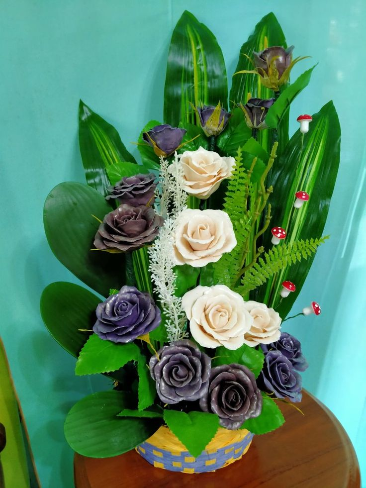 lagi viral!!! diy hiasan dinding dari stik eskrim+bunga