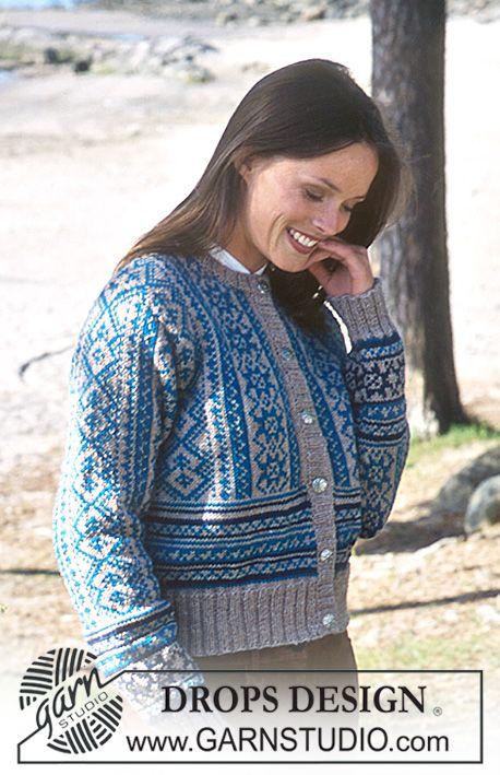 """DROPS Vest met traditioneel ingebreid motief van """"Karisma Superwash"""". Maat S - L. ~ DROPS Design"""