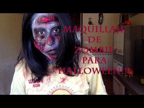 Maquillaje De Zombie Para Halloween Super Fácil!!! - YouTube