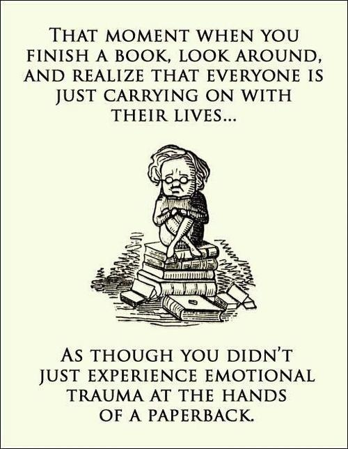 Emotional trauma at the hands of a paperback