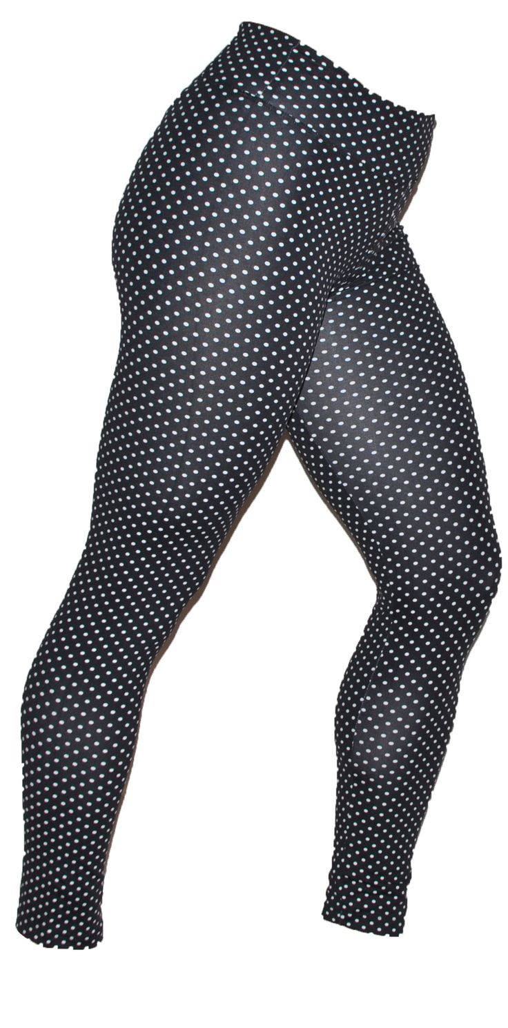 These funky Polka Dot Print leggings are so much fun to wear Leggings are so comfortable to wear and give you flexibility and style, Leggings are the Perfect combination of bold prints and soft microfiber fabric that makes it funky and comfy.  Suplex Light Material. #gymwear