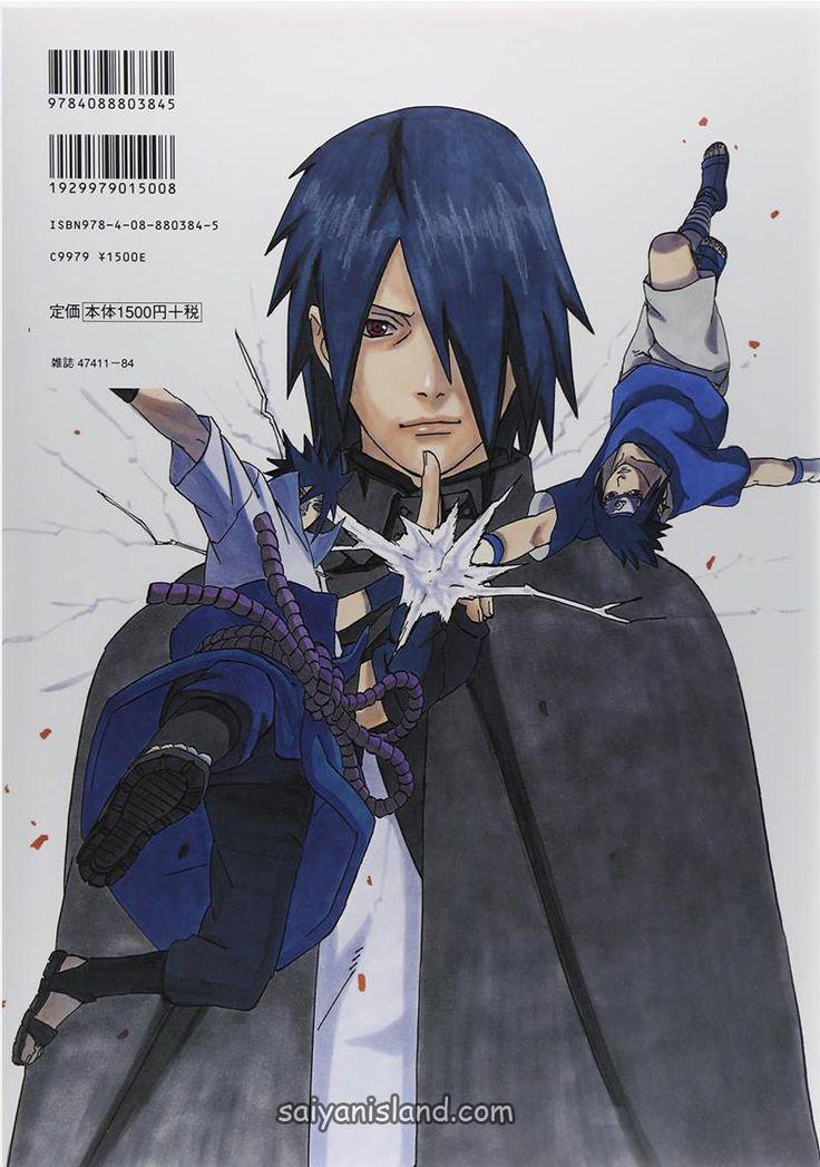 Sasuke on the Back Cover of Uzumaki Naruto Art Book | Saiyan Island