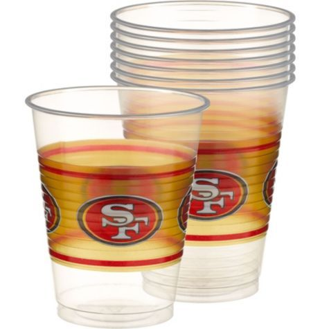 Plastic San Francisco 49ers Cups 25ct - Party City