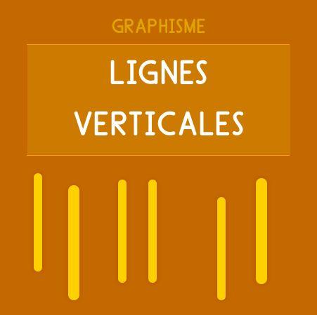 Graphisme Maternelle - Les lignes verticale. Trait vertical