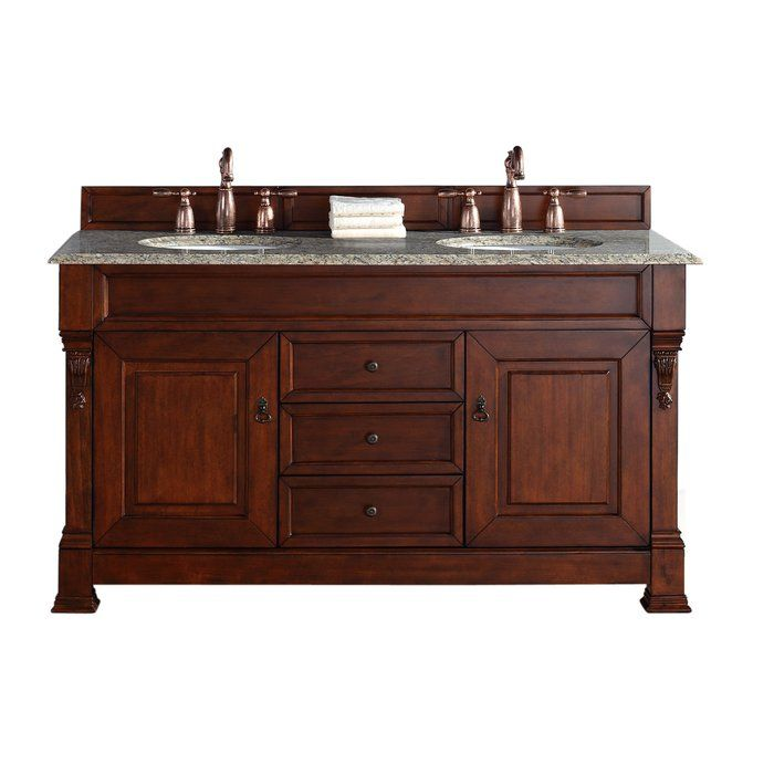 Vivanco 60 Double Bathroom Vanity Base Only Bathroom Vanities Without Tops Double Vanity Bathroom Oak Bathroom Vanity