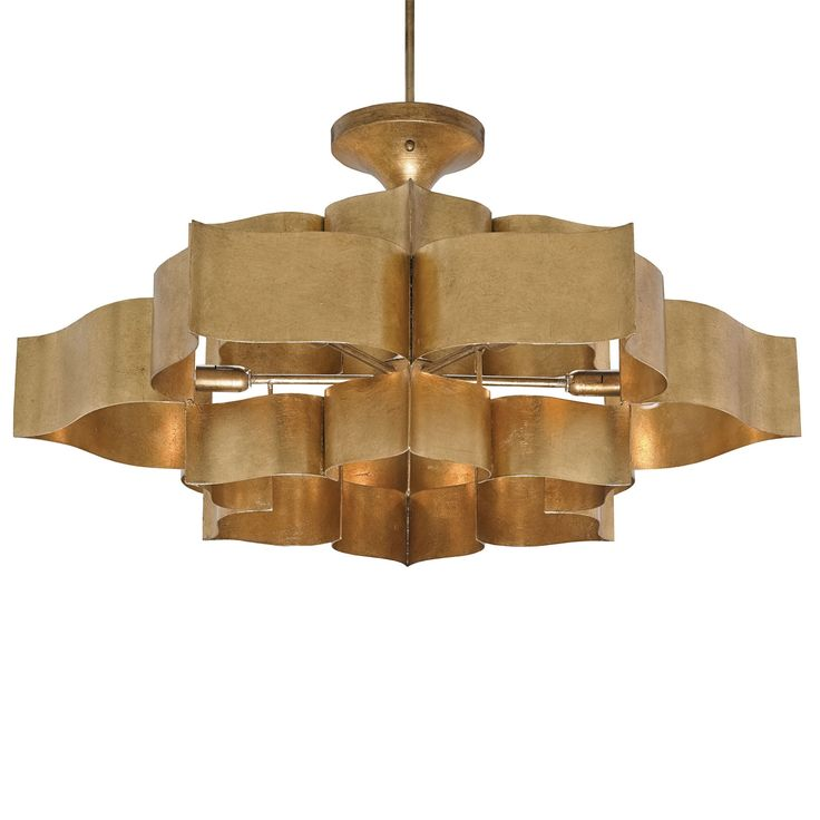 Currey and Company 9494 Grand Lotus 6 Light Large Pendant Antique Gold Leaf Indoor Lighting Pendants  sc 1 st  Pinterest & 83 best Graystone Road Lighting images on Pinterest | Chandeliers ... azcodes.com