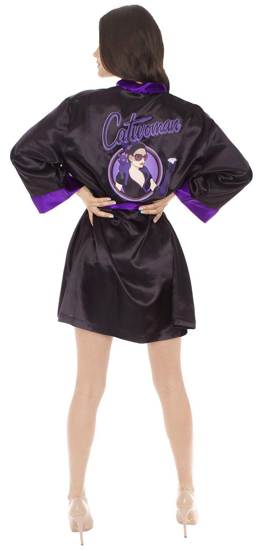 DC Comics Catwoman Bombshell Womens Satin Robe