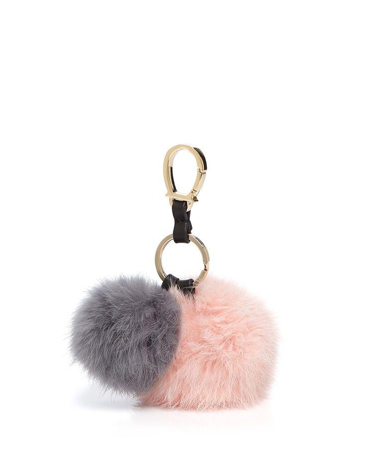 Etienne Aigner Rabbit Fur Pom Pom Handbag Charm | Bloomingdale's