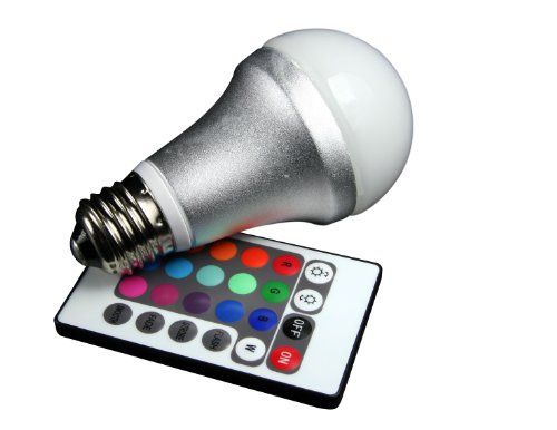 Cool Technaxx RGB LED Lampe Strahler E Watt multicolor farbwechsel dimmbar inklusive Infrarot