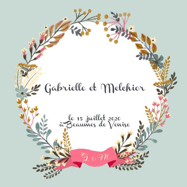 Agnès YVAN illustration  Faire part mariage