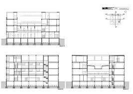 Secciones de la Casa del Fascio.