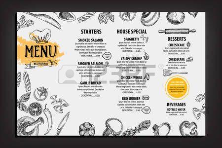 menu ristorante: Ristorante bar menu, modello di progettazione. Volantino alimentare.