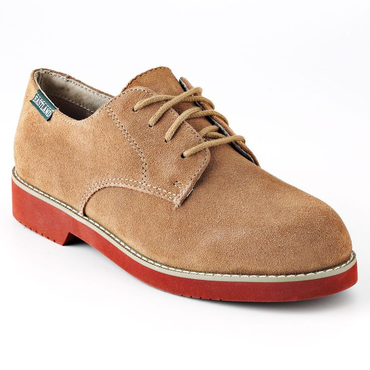 Eastland Buck Women's Oxford Shoes, Size: medium (6.5), Beig/Green (Beig/Khaki)