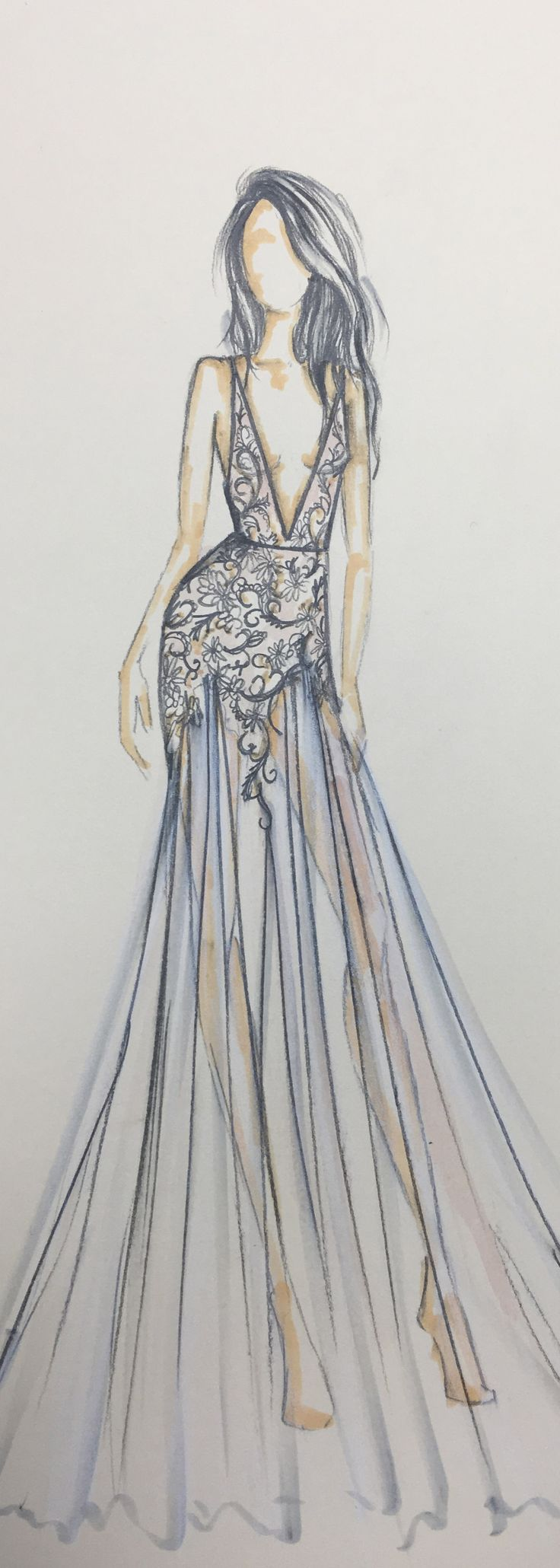 Amazing fashion drawings of dresses