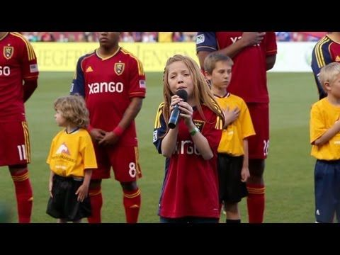 11-year-old Lexi Walker sings National Anthem at Real Salt Lake Game NOTICE THE PEOPLES FACES WHEN THIS TALENTED 11 YEAR OLD DOES OUR NATIONAL ANTHEM PROUD