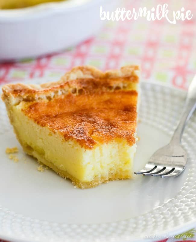 Old Fashioned Buttermilk Pie Recipe A Creamy Sweet And Tangy Custard Filling In A Flaky Pastry Crust Is Perfect In 2020 Buttermilk Pie Recipe Buttermilk Pie Recipes