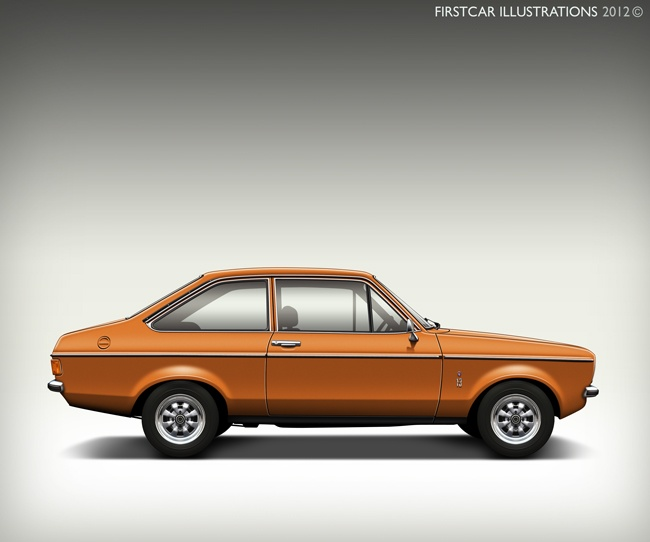 1976 FORD ESCORT MK2 - firstcar illustrations
