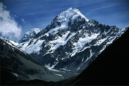 View of Mt Cook's south face from the Hooker Valley