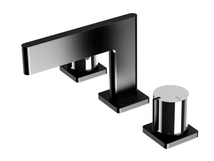 Sassy and chic, Milli embodies fashion - setting the standard for in Vogue tapware design. Inspired by the beauty and perfection of the blade, the Milli Axon Basin Set with Black Outlet is a revolution in design. Sheer lines are bought to life through the use of solid brass construction.
