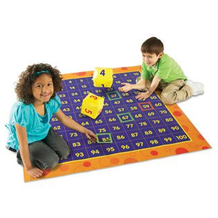 Hip Hoppin' Hundreds Mat™ - Social & Behavioral - Skill - Special Needs - Learning Resources®