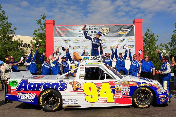 2013: Elliott earned his first and only Camping World Truck Series victory on Sept. 1 at Canadian Tire Motorsport Park, leading 22 of 64 laps around the road course and making contact with Ty Dillon at the finish.  --  Chase Elliott through the years | Photo Galleries | Nascar.com